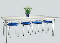 Bàn ghế phòng ăn bằng inox MIMI BAN-002